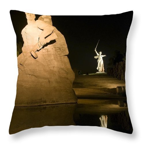 Architecture Throw Pillow featuring the photograph Volgograd2 by Svetlana Sewell
