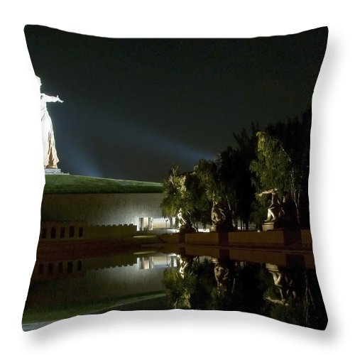 Architecture Throw Pillow featuring the photograph Volgograd3 by Svetlana Sewell