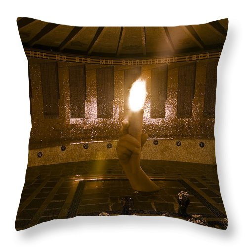 Architecture Throw Pillow featuring the photograph Volgograd4 by Svetlana Sewell