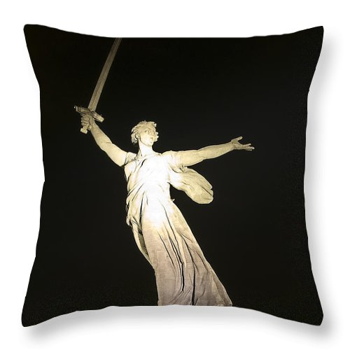 Architecture Throw Pillow featuring the photograph Volgograd5 by Svetlana Sewell