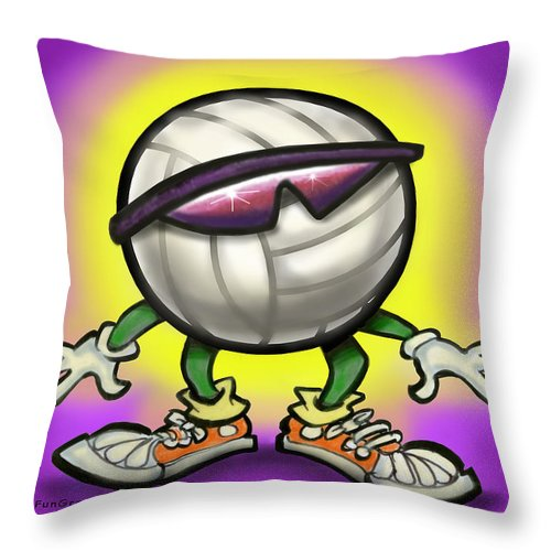Volleyball Throw Pillow featuring the greeting card Volleyball by Kevin Middleton