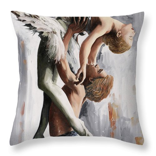 Fly Throw Pillow featuring the painting Volo Sostenuto by Guido Borelli