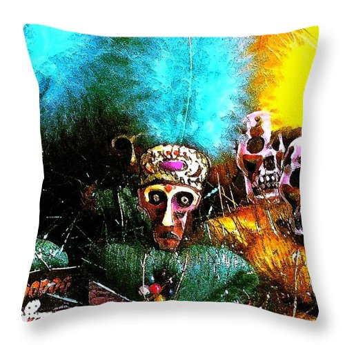 Voodoo Throw Pillow featuring the photograph Voodoo For You by Nelson Strong