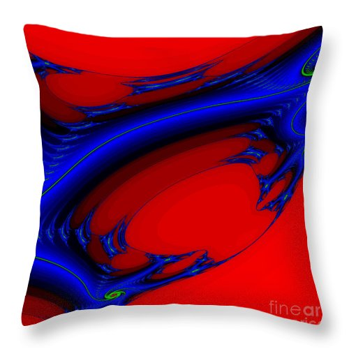 Clay Throw Pillow featuring the digital art Vortex Extreme Fractal by Clayton Bruster