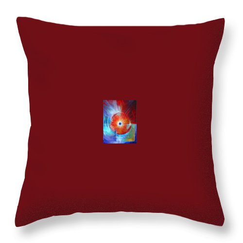 Clouds Throw Pillow featuring the painting Vortex by James Christopher Hill