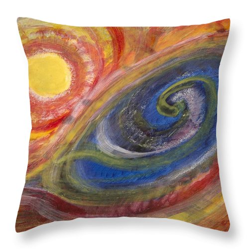 Stockmar Watercolors Throw Pillow featuring the painting Vortex by Stephen Hawks