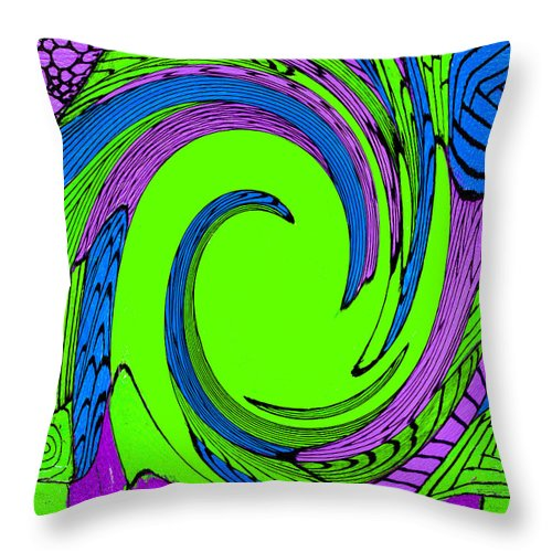Vortex Throw Pillow featuring the painting Vortex by Wayne Potrafka