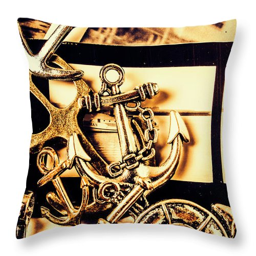 Voyage Throw Pillow featuring the photograph Voyage In Historical Boating by Jorgo Photography - Wall Art Gallery