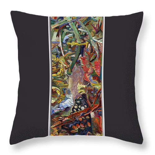 Color Throw Pillow featuring the painting Vsp Xv Butter-fly-wing by Juel Grant