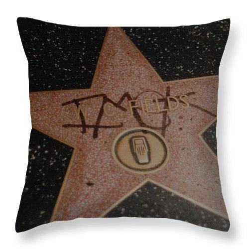 Hollywood Throw Pillow featuring the photograph W C Fields Star by Rob Hans