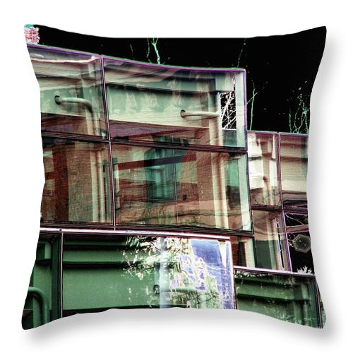 Seattle Throw Pillow featuring the digital art Wa State Convention And Trade Center by Tim Allen