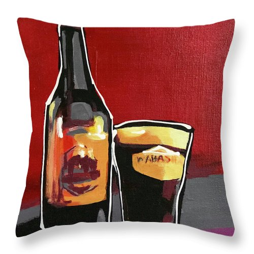 Wabasha Throw Pillow featuring the painting Wabasha by Laura Toth