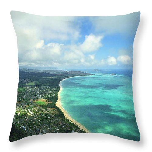 Waimanalo Throw Pillow featuring the photograph Waimanalo Bay by Kevin Smith