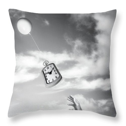 Aging Throw Pillow featuring the photograph Wait A Minute by Tom Mc Nemar