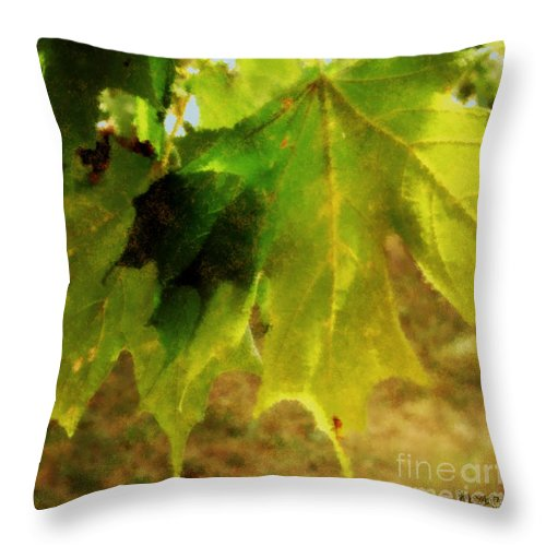 Autumn Throw Pillow featuring the painting Waiting For Winter by RC DeWinter