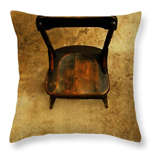 Alone Throw Pillow featuring the photograph Waiting To Say Goodbye by Dana DiPasquale