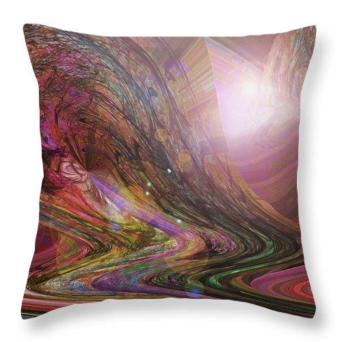 Dream Art Throw Pillow featuring the digital art Wake Up And Dream by Linda Sannuti