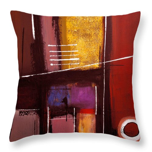 Abstract Throw Pillow featuring the painting Walk On By by Ruth Palmer