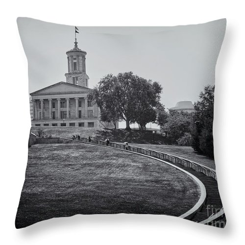State Throw Pillow featuring the photograph Walk To Capital by Stanton Tubb