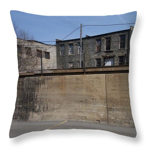 Walker's Point Throw Pillow featuring the photograph Walker's Point 1 by Anita Burgermeister