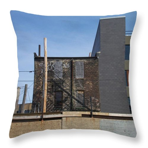 Walker's Point Throw Pillow featuring the photograph Walker's Point 2 by Anita Burgermeister