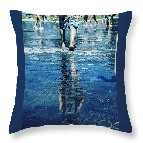 Man Throw Pillow featuring the photograph Walking on the water by Nerea Berdonces Albareda