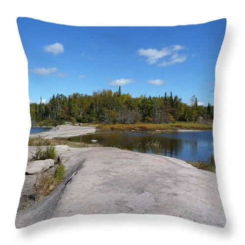 Rocks Throw Pillow featuring the photograph Walking On The Whale's Back by Ruth Kamenev