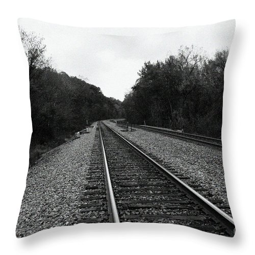 Ahead Throw Pillow featuring the photograph Walking The Line by Alan Look