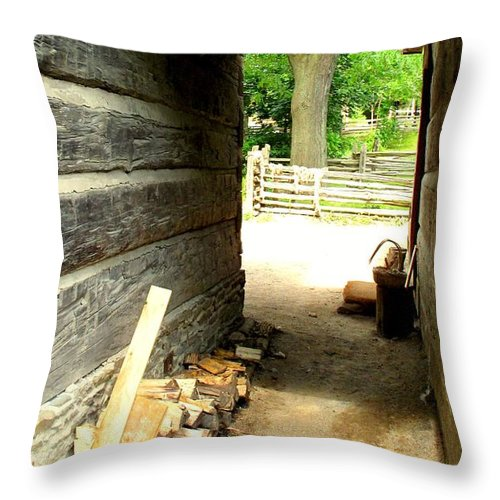 Pioneer Throw Pillow featuring the photograph Walkway by Ian MacDonald