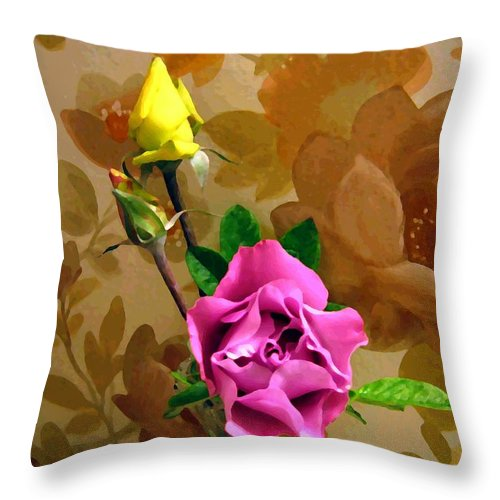 Roses Throw Pillow featuring the photograph Wall Flowers by Will Borden