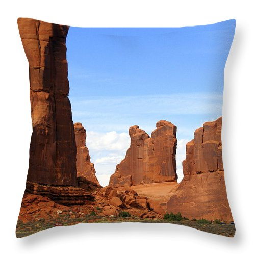 Southwest Art Throw Pillow featuring the photograph Wall Street by Marty Koch