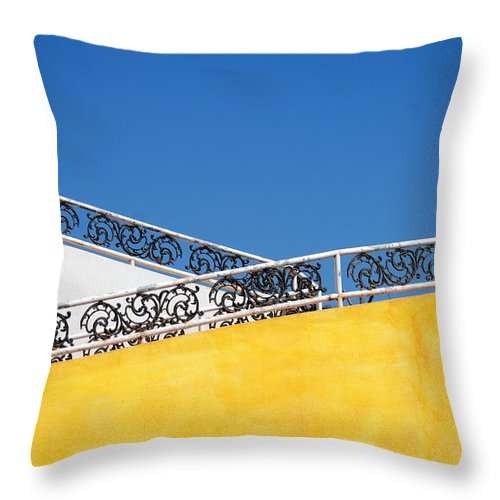 Wall Throw Pillow featuring the photograph Walls And Sky by Catherine Lau