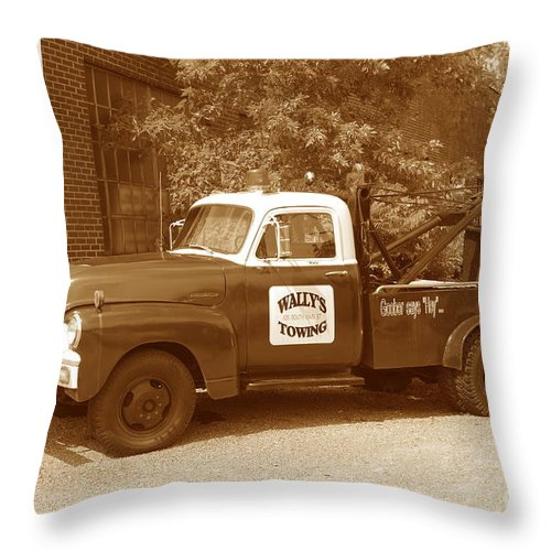 Antique Throw Pillow featuring the photograph Wally by Eric Liller