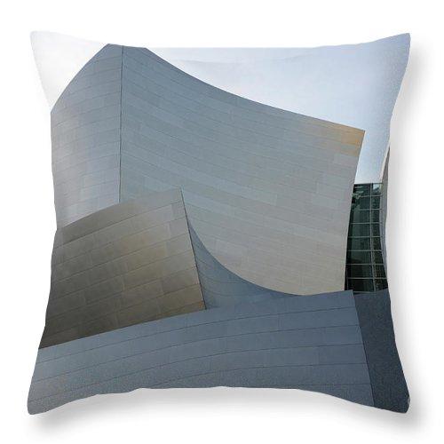 Disney Throw Pillow featuring the photograph Walt Disney Concert Hall 11 by Bob Christopher