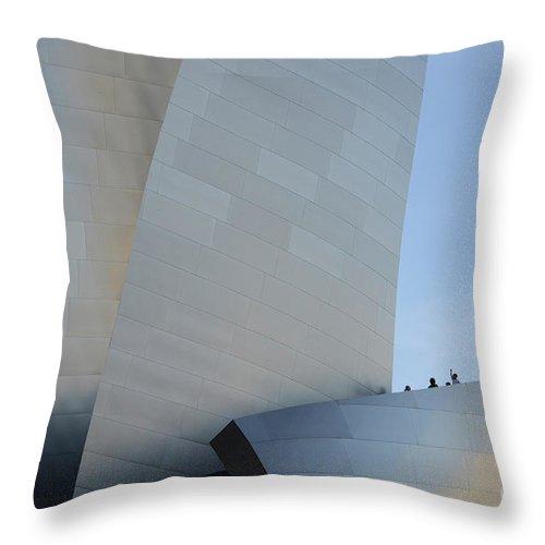 Disney Throw Pillow featuring the photograph Walt Disney Concert Hall 13 by Bob Christopher