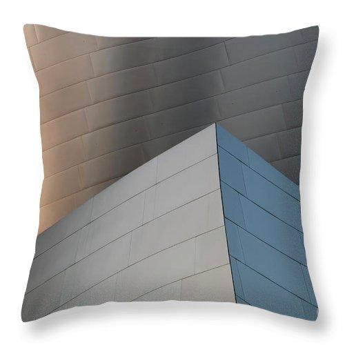 Disney Throw Pillow featuring the photograph Walt Disney Concert Hall 16 by Bob Christopher