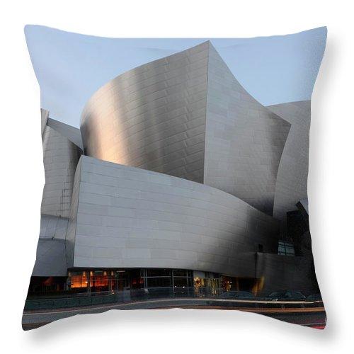 Disney Throw Pillow featuring the photograph Walt Disney Concert Hall 17 by Bob Christopher