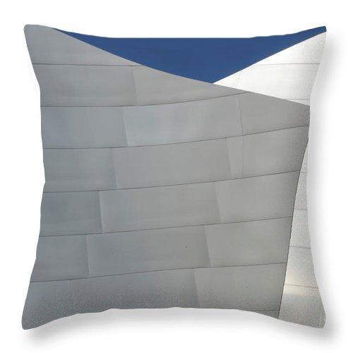 Disney Throw Pillow featuring the photograph Walt Disney Concert Hall 20 by Bob Christopher
