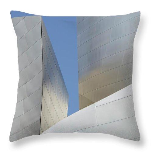 Disney Throw Pillow featuring the photograph Walt Disney Concert Hall 22 by Bob Christopher