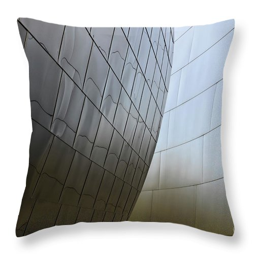 Disney Throw Pillow featuring the photograph Walt Disney Concert Hall 4 by Bob Christopher