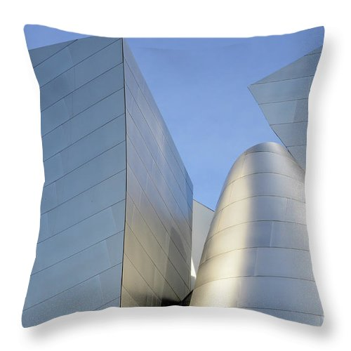 Disney Throw Pillow featuring the photograph Walt Disney Concert Hall 7 by Bob Christopher