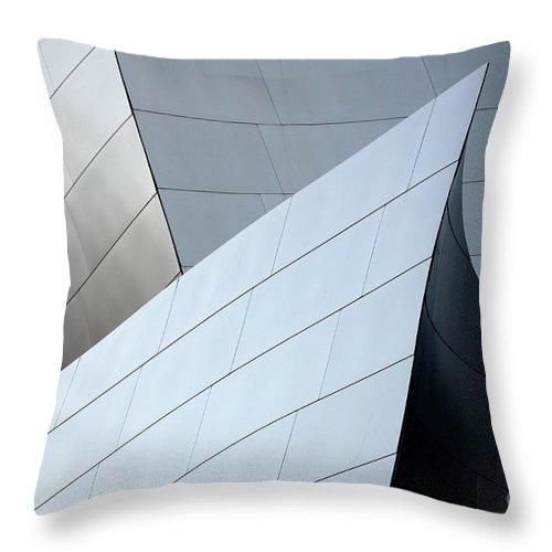 Disney Throw Pillow featuring the photograph Walt Disney Concert Hall 9 by Bob Christopher