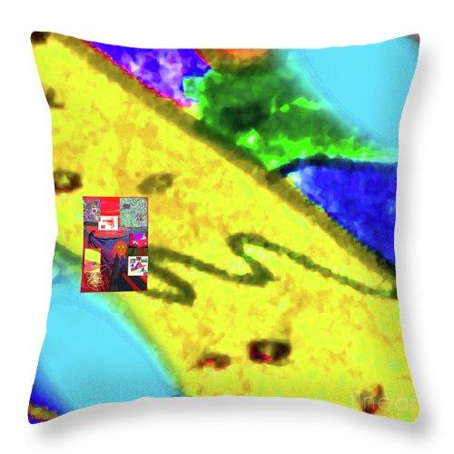 Walter Paul Bebirian Throw Pillow featuring the digital art 11-11-2015abcdefghijklmnopqrtuvwxyzabcdefghij by Walter Paul Bebirian