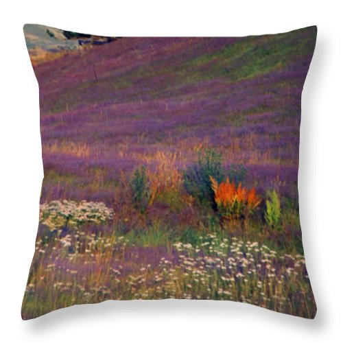 New Zealand Throw Pillow featuring the photograph Wanaka Heather by Kevin Smith