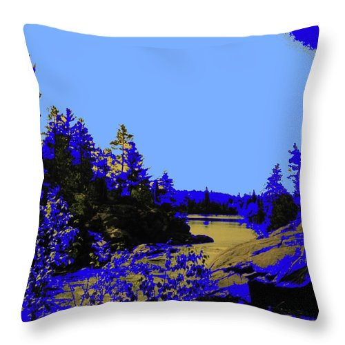 Northern Throw Pillow featuring the photograph Wanapitae River Morning by Ian MacDonald