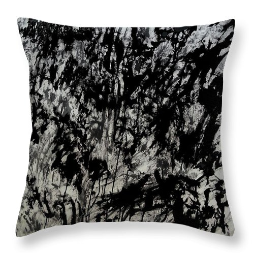 Art Throw Pillow featuring the mixed media War 3 by Nour Refaat