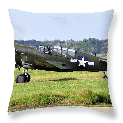 War Bird Throw Pillow featuring the photograph War Bird by David Lee Thompson