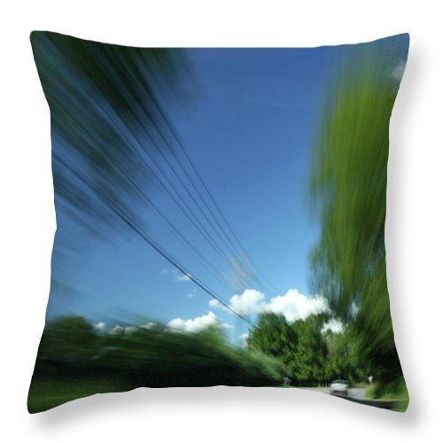 Action Throw Pillow featuring the photograph Warp Speed by Karol Livote