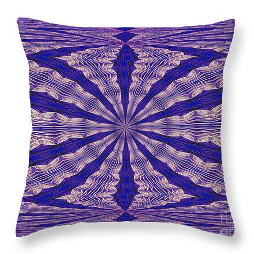 Fractal Throw Pillow featuring the digital art Warped Minds Eye by Deborah Benoit