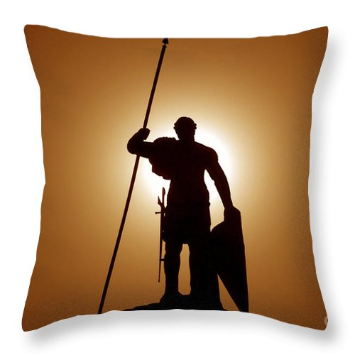 Warrior Throw Pillow featuring the photograph Warrior by David Lee Thompson